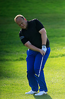 Wayne McCully (Donaghadee)  during the final of the Irish Mid-Amateur Open Championship, Royal Belfast Golf CLub, Hollywood, Down, Ireland. 29/09/2019.<br /> Picture Fran Caffrey / Golffile.ie<br /> <br /> All photo usage must carry mandatory copyright credit (© Golffile   Fran Caffrey)