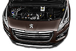 High angle engine detail of a 2014 Peugeot 3008 5 Door SUV 2WD