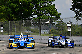 Verizon IndyCar Series<br /> Chevrolet Detroit Grand Prix Race 2<br /> Raceway at Belle Isle Park, Detroit, MI USA<br /> Sunday 4 June 2017<br /> Scott Dixon, Chip Ganassi Racing Teams Honda, Marco Andretti, Andretti Autosport with Yarrow Honda<br /> World Copyright: Scott R LePage<br /> LAT Images<br /> ref: Digital Image lepage-170604-DGP-9386