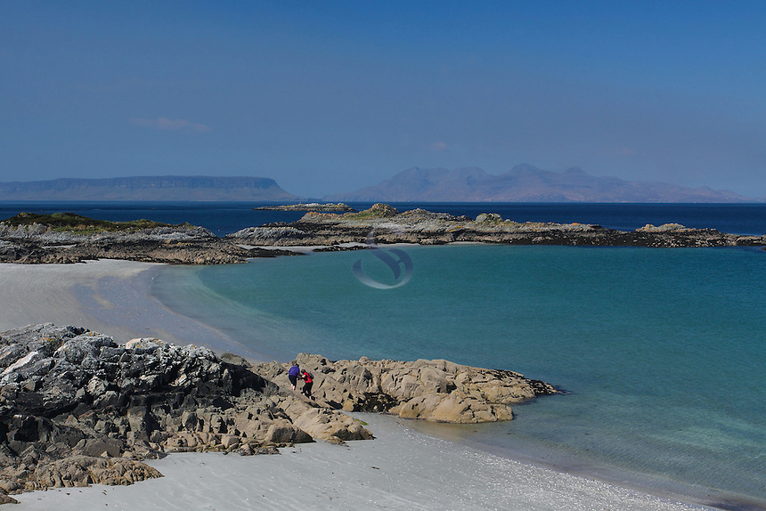 Looking towards Rum and Eigg from Camusdarach, Arisaig, Lochaber<br /> <br /> Copyright www.scottishhorizons.co.uk/Keith Fergus 2011 All Rights Reserved