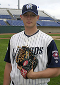 April 20, 2004:  Jared Wells of the Fort Wayne Wizards, Midwest League (Low-A) affiliate of the San Diego Padres, during a game at Memorial Stadium in Fort Wayne, IN.  Photo by:  Mike Janes/Four Seam Images