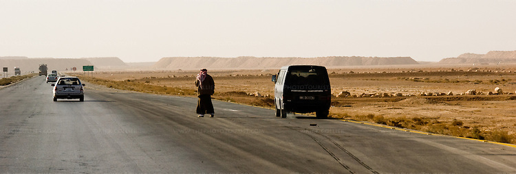 "Desert Highway -- Jordan's ""Desert Highway"" extends from Amman to the country's only port, at Aqaba.  © Rick Collier"