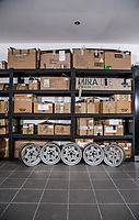 BNPS.co.uk (01202 558833)<br /> Pic: Historics/BNPS<br /> <br /> Ferrari Box...ster - all the parts are there...you've just got to find them.<br /> <br /> A classic Ferrari has emerged for sale for a whopping £165,000 despite the fact the vast majority of its parts are currently sat in boxes.<br /> <br /> The Dino 246GT was dismantled in the 1970s by its then owner as part of a restoration project, which never got off the ground.<br /> <br /> The parts were meticulously filed into around 60 cardboard boxes where they remain to this day filling several shelves.