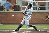 Luis Gonzalez (8) of the Winston-Salem Dash at bat against the Buies Creek Astros at Jim Perry Stadium on August 15, 2018 in Buies Creek, North Carolina.  The Astros defeated the Dash 5-0.  (Brian Westerholt/Four Seam Images)