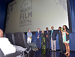 MIAMI, FL - MARCH 04: Thomas Powers, Christy McGill, Owsley Brown, Anne Flatté, Nicole St. Victor, Mark Valens, Bernadette Williams, David César and ,Jean-Bernard Desinat attend the Miami Film Festival screening for 'Serenade for Haiti' at Regal South Beach on March 4, 2017 in Miami, Florida.  ( Photo by Johnny Louis / jlnphotography.com )
