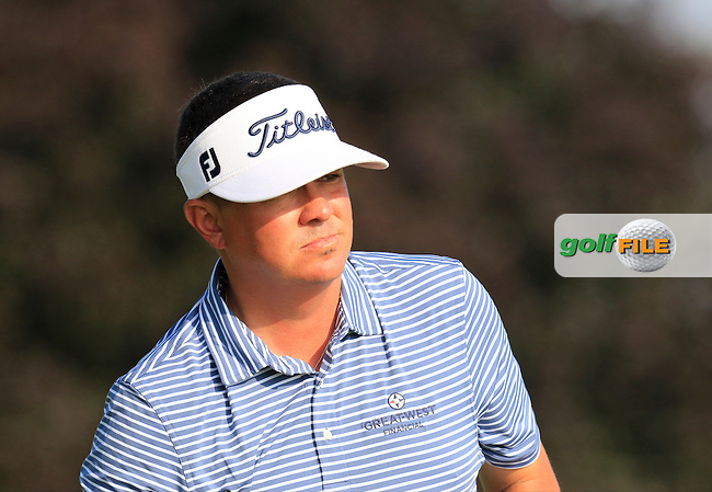 Jason Dufner (USA) tees off the 10th tee to start his match during Thursday's Round 1 of the 2016 U.S. Open Championship held at Oakmont Country Club, Oakmont, Pittsburgh, Pennsylvania, United States of America. 16th June 2016.<br /> Picture: Eoin Clarke | Golffile<br /> <br /> <br /> All photos usage must carry mandatory copyright credit (&copy; Golffile | Eoin Clarke)