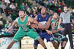North Texas Mean Green forward Tony Mitchell (13) andJackson State Tigers forward Sydney Coleman (20) in action during the game between the Jackson State Tigers and the North Texas Mean Green at the Super Pit arena in Denton, Texas. UNT defeats Jackson State 83 to 65...