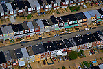 AErial view of South Philadelphia Row homes