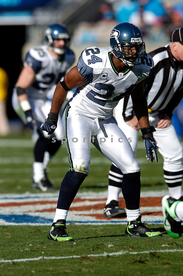 DEON GRANT, of the Seattle Seahawks  in action during the Seahawks game against the Carolina Panthers  on December 16, 2007 in Charlotte, North Carolina...PANTHERS win 13-10..SPORTPICS