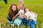 Lixnaw Vintage : Attending the dog show during Lixnaw vintage rally on Subday last were Alana Moran, Keira Boyd & Lauryn Moran with their dogs Molly & Minnie.
