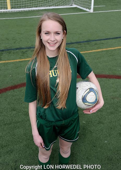 Huron High School girl's junior varsity soccer team. 4-2-14