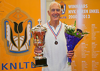 August 22, 2014, Netherlands, Amstelveen, De Kegel, National Veterans Championships, Winner HE 85, Jan Haagen<br />