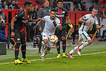 29.11.2018, BayArena, Leverkusen, Europaleque, Vorrunde, GER, UEFA EL, Bayer 04 Leverkusen (GER) vs. Ludogorez Rasgrad (BUL),<br />  <br /> DFL regulations prohibit any use of photographs as image sequences and/or quasi-video<br /> <br /> im Bild / picture shows: <br /> Wanderson (Ludogorez Rasgrad #88), im Zweikampf gegen  Wendell (Leverkusen #18), <br /> <br /> Foto &copy; nordphoto / Meuter<br /> <br /> <br /> <br /> Foto &copy; nordphoto / Meuter