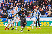 Crystal Palace's midfielder Luka Milivojevic (4) scores his penalty during the EPL - Premier League match between Huddersfield Town and Crystal Palace at the John Smith's Stadium, Huddersfield, England on 17 March 2018. Photo by Stephen Buckley / PRiME Media Images.