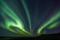 Aurora borealis (northern lights), Barter Island, Arctic, Alaska.