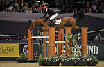 "Hendrick-Jan Schuttert (NED) riding ""Expensive"". International showjumping. Grandstand five fence challenge. Horse of the year show (HOYS). National Exhibition Centre (NEC). Birmingham. UK. 05/10/2018. ~ MANDATORY CREDIT Garry Bowden/SIPPA - NO UNAUTHORISED USE - +44 7837 394578"
