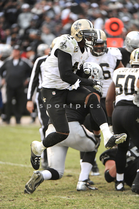 New Orleans Saints Roman Harper (41) in action during a game against the Raiders on November 18, 2012 at O.co Coliseum on Oakland, CA. The Saints beat the Raiders 38-17.