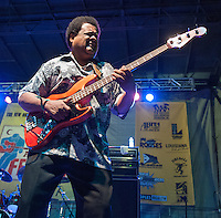 James Cotton performs at the 2013 Blues and BBQ Festival in New Orleans, LA.