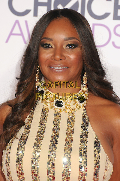 6 January 2016 - Los Angeles, California - Tamala Jones. People's Choice Awards 2016 - Arrivals held at The Microsoft Theater. <br /> CAP/ADM/BP<br /> &copy;BP/ADM/Capital Pictures