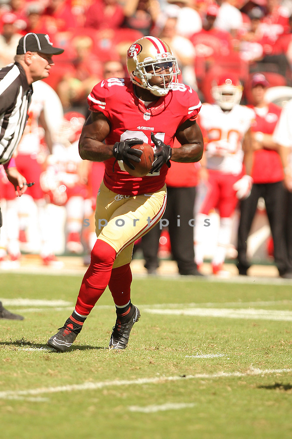 San Francisco 49ers Anquan Boldin (81) during a game against the Kansas City Chiefs on October 5, 2014 at Levi's Stadium in Santa Clara, CA. the 49ers beat the Chiefs 22-17.