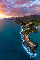 Cotton candy skies over Ko Olina Resort, West O'ahu.