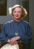 Portrait of Bette Davis, 1980, Los Angeles. Photo by John G. Zimmerman.