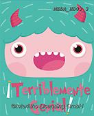 Dreams, CHILDREN BOOKS, BIRTHDAY, GEBURTSTAG, CUMPLEAÑOS, paintings+++++,MEDAHB03/3,#BI#, EVERYDAY ,monster