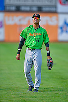 Joel Booker (11) of the Great Falls Voyagers before the game against the Ogden Raptors in Pioneer League action at Lindquist Field on August 18, 2016 in Ogden, Utah. Ogden defeated Great Falls 10-6. (Stephen Smith/Four Seam Images)
