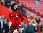 Mohamed Salah of Liverpool warms up during the Premier League match at Anfield, Liverpool. Picture date: 30th November 2019. Picture credit should read: Simon Bellis/Sportimage