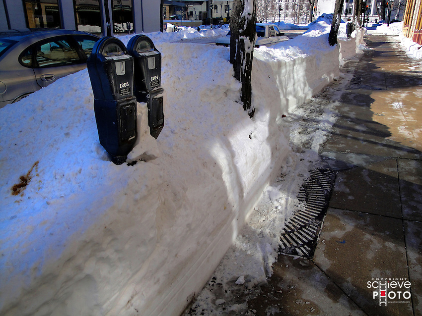 A big winter storm dumps several inches of snow on Wisconsin.