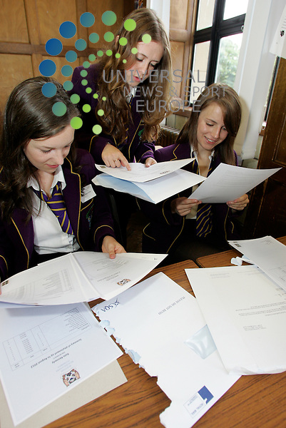 Three happy young ladies with their exam results at Troon's Marr College . 07/08/2012 Picture: Universal News and Sport (Scotland)