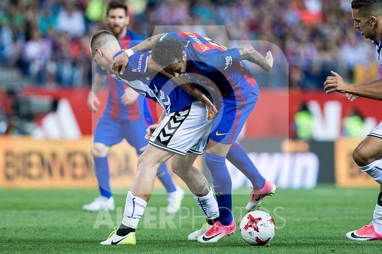 Neymar Santos Jr of FC Barcelona during the match of  Copa del Rey (King's Cup) Final between Deportivo Alaves and FC Barcelona at Vicente Calderon Stadium in Madrid, May 27, 2017. Spain.. (ALTERPHOTOS/Rodrigo Jimenez)