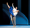 Bolshoi Ballet <br /> The Taming of the Shrew <br /> choreography by Jean-Christophe Maillot <br /> at The Royal Opera House, Covent Garden, London, Great Britain <br /> rehearsal of act 1<br /> 3rd August 2016 <br /> <br /> <br /> <br /> Nina Kaptsova as Bianca and <br /> Artem Ovcharenko as Lucentio <br /> <br /> <br /> Photograph by Elliott Franks <br /> Image licensed to Elliott Franks Photography Services