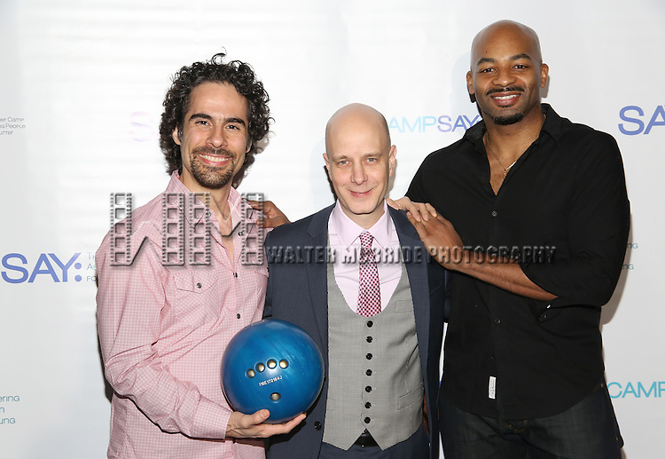 Alex Lacamoire, Taro Alexander and Brandon Victor Dixon attend the 5th Annual Paul Rudd All-Star Bowling Benefit for (SAY) at Lucky Strike Lanes on February 13, 2017 in New York City.