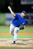 GCL Blue Jays Chuck Ghysels #8 during a Gulf Coast League game against the GCL Tigers at Joker Marchant Stadium on July 16, 2012 in Lakeland, Florida.  GCL Blue Jays defeated the GCL Tigers 4-3.  (Mike Janes/Four Seam Images)