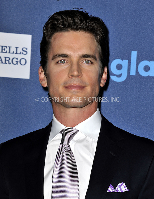 WWW.ACEPIXS.COM......April 20, 2013, Los Angeles, CA.....Matt Bomer arriving at the 24th Annual GLAAD Media Awards held at the JW Marriott Los Angeles at L.A. LIVE on April 20, 2013 in Los Angeles, California. ..........By Line: Peter West/ACE Pictures....ACE Pictures, Inc..Tel: 646 769 0430..Email: info@acepixs.com
