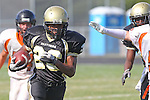 Palos Verdes, CA 09/22/11 - James Nelson (Peninsula #26)) in action during the Beverly Hills-Peninsula Varsitty Football gane.) in action during the Beverly Hills-Peninsula Varsitty Football gane.