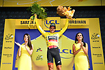 Race leader Greg Van Avermaet (BEL) BMC Racing Team retains the Yellow Jersey at the end of Stage 4 of the 2018 Tour de France running 195km from La Baule to Sarzeau, France. 10th July 2018. <br /> Picture: ASO/Alex Broadway | Cyclefile<br /> All photos usage must carry mandatory copyright credit (&copy; Cyclefile | ASO/Alex Broadway)