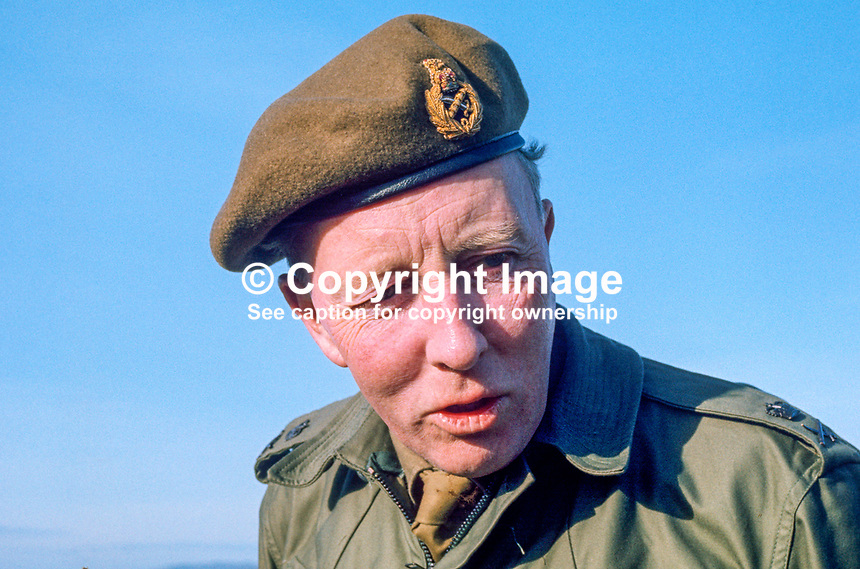 Lt Gen Erskine Crum, who died within two months of taking up the post of General Officer Commanding, N Ireland. Ref: 197102000097a. Copyright Image from Victor Patterson, 54 Dorchester Park, Belfast, UK, BT9 6RJ..Tel: +44 28 9066 1296.Mob: +44 7802 353836.Voicemail +44 20 8816 7153.Skype: victorpattersonbelfast.Email: victorpatterson@me.com.Email: victorpatterson@ireland.com (back-up)..IMPORTANT: If you wish to use this image or any other of my images please go to www.victorpatterson.com and click on the Terms & Conditions. Then contact me by email or phone with the reference number(s) of the image(s) concerned.