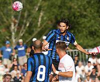 Andrea Ranocchia<br /> italian Prseason soccer match between FC inter e Carpi , at Stadium of Rischione di Brunico Italy July 15, 2015