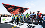 Ready for the start of the 2018 Shanghai Criterium, Shanghai, China. 17th November 2018.<br /> Picture: ASO/Alex Broadway | Cyclefile<br /> <br /> <br /> All photos usage must carry mandatory copyright credit (&copy; Cyclefile | ASO/Alex Broadway)