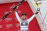 10.03.2018, Ofterschwanger Horn, Ofterschwang, GER, Slalom Weltcup in Ofterschwang, im Bild Siegerehrung, Frida Hansdotter (SWE, #6)<br /> <br /> Foto &copy; nordphoto / Hafner