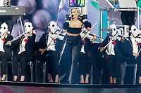 Anne Marie performs with 'Clean Bandit' during the show of the 2017 MTV Europe Music Awards, EMAs, at SSE Arena, Wembley, in London, Great Britain, on 12 November 2017. Photo: Hubert Boesl <br />