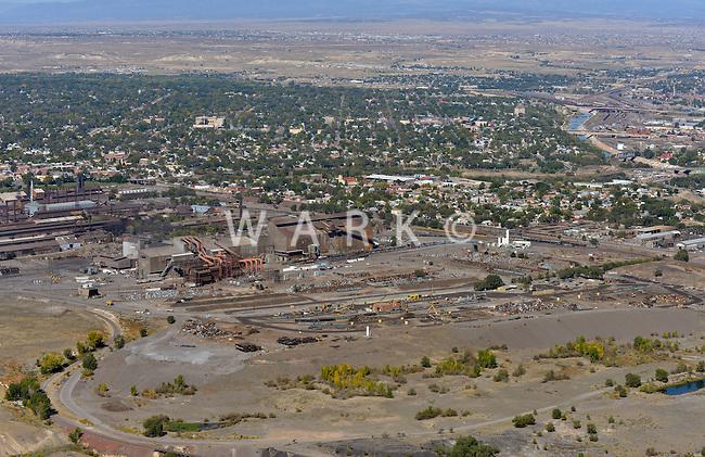 Aerial of Evraz Steel, looking northwest. Oct 2, 2012
