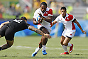 Lote Tuqiri (JPN),<br /> AUGUST 9, 2016 - / Rugby Sevens : <br /> Men's Pool Round <br /> between New Zeland 12-14 Japan <br /> at Deodoro Stadium <br /> during the Rio 2016 Olympic Games in Rio de Janeiro, Brazil. <br /> (Photo by Yusuke Nakanishi/AFLO SPORT)