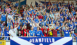 St Johnstone v Eskisehirspor....18.07.12  Uefa Cup Qualifyer.saints fans cheer.Picture by Graeme Hart..Copyright Perthshire Picture Agency.Tel: 01738 623350  Mobile: 07990 594431
