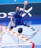 Australia's Daniel Kelly during 23rd Men's Handball World Championship preliminary round match.January 14,2013. (ALTERPHOTOS/Acero) /NortePhoto