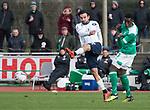 09.03.2019, Platz 11, Bremen, GER,RL Nord, Werder Bremen II vs VfB Oldenburg, im Bild<br /> Suelyman CELIKYURT (VfB Oldenburg #27 )<br /> Frank RONSTADT (Werder Bremen II #3 )<br /> <br /> Foto &copy; nordphoto / Rojahn