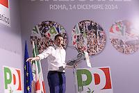 Roma, 14 Dicembre 2014<br /> Assemblea nazionale del Partito Democratico.<br /> Matteo Renzi