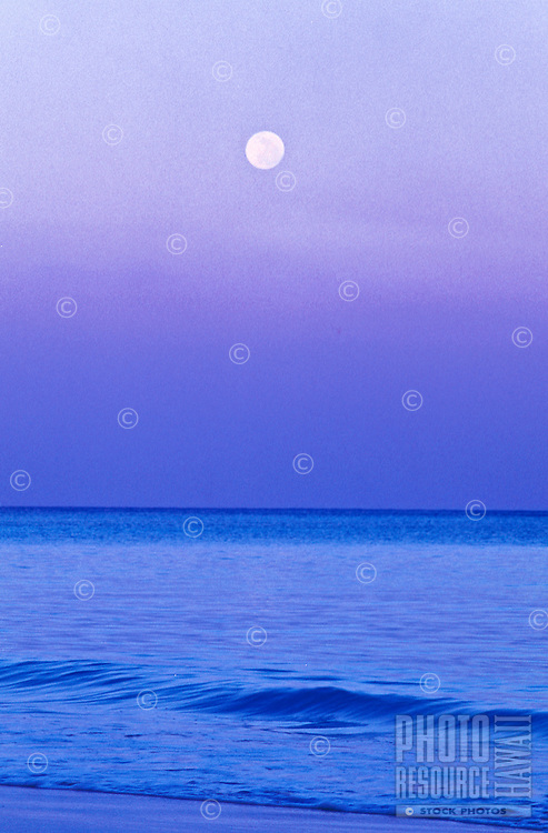 Moonrise over Kailua Beach, Oahu
